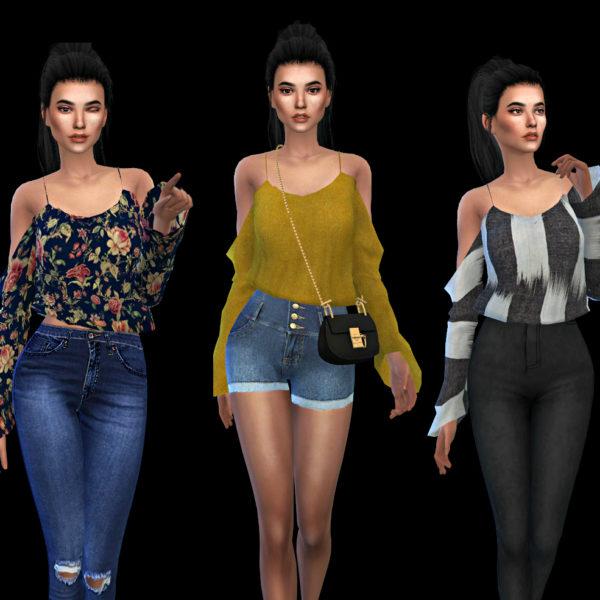 Leo 4 Sims: Kaliah Blouse