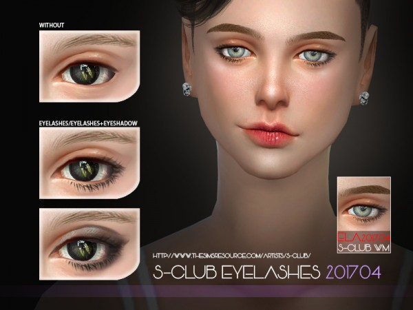 The Sims Resource: Eyelashes F 201704 by S club