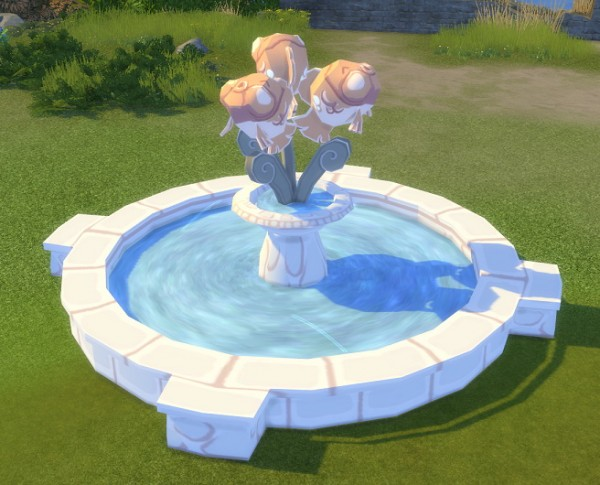 Simsworkshop: Big Fish Fountain from MySims