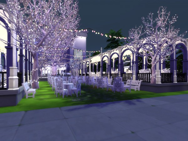 The Sims Resource: Illuminate Tree garden restaurant by hoanglap