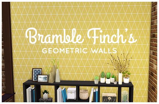 Simsworkshop: Geometric Walls by BrambleFinch