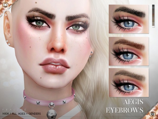 The Sims Resource: Aegis Eyebrows N106 by Pralinesims