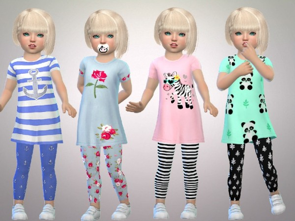 The Sims Resource: Toddler Girls Full Outfits by SweetDreamsZzzzz