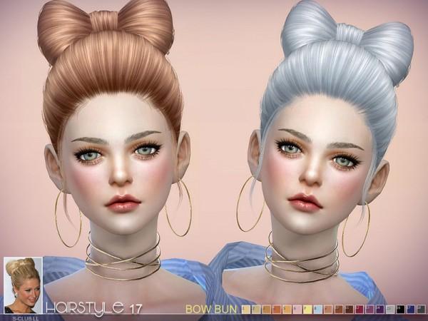 The Sims Resource: Sclub`s hair BowBun n17