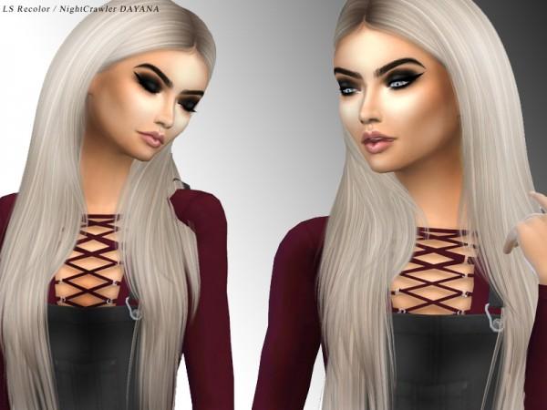 Simsworkshop: Nightcrawlers Dayana hair retextured by xLovelysimmer100x,