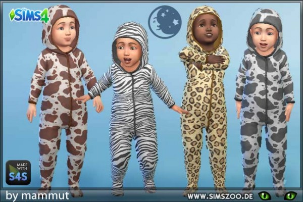 Blackys Sims 4 Zoo: Toddler Sleep Zip Up 1 by  mammut