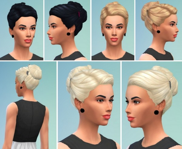 Birkschessimsblog: Lady's and Girl's HairBun with Clips