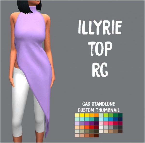 Simsworkshop: Illyrie Top by Sympxls