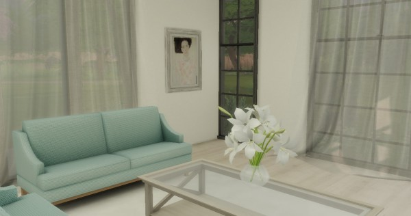 Simsworkshop: Just Peachy kitchen and livingroom by catsblob