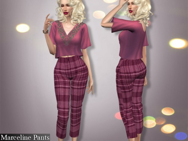 The Sims Resource: Marceline Outfit   Top, Vest, Pants by Genius