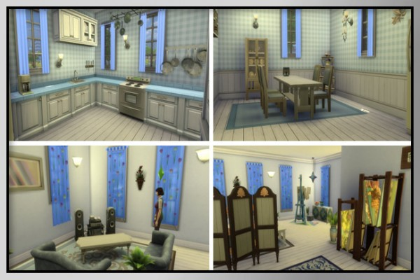 Blackys Sims 4 Zoo: A5 Creative in Blue   Project Newcrest by MadameChaos