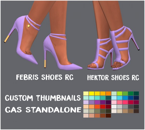 Simsworkshop: Febris and Hektor Shoes by Sympxls