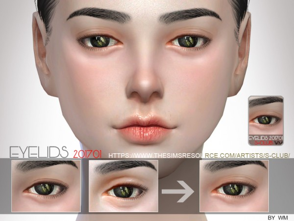 The Sims Resource: Skin Detail Eyelid 201701 by S club