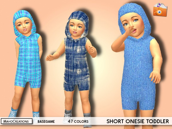 The Sims Resource: Short Onesie Toddler by MahoCreations
