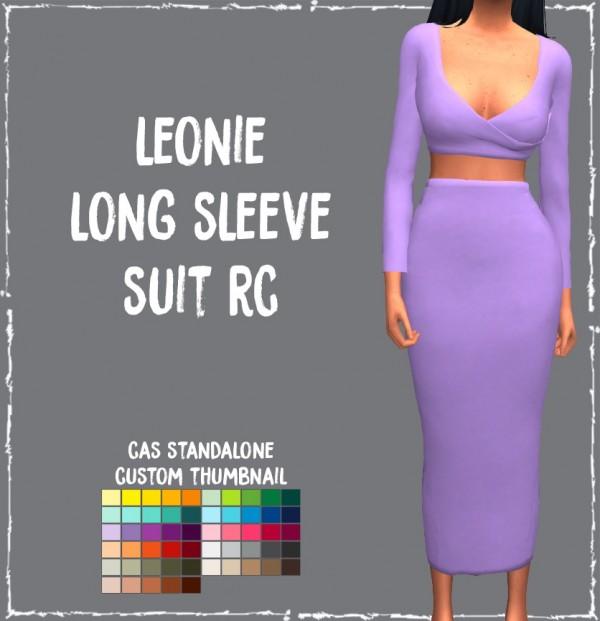 Simsworkshop: Leonie Long Sleeve Suit by Sympxls