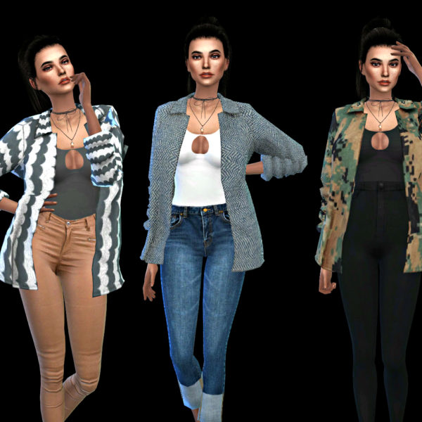 Leo 4 Sims Breakout Shirt Jacket Sims 4 Downloads