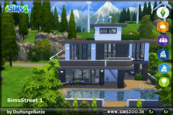 Blackys Sims 4 Zoo: Sims street 1 by Dschungelkatze