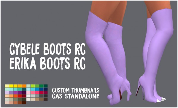 Simsworkshop: Cybele and Erika Shoes by Sympxls