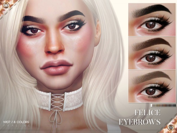 The Sims Resource: Felice Eyebrows N107 by Pralinesims