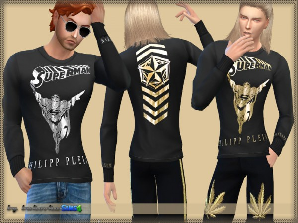 The Sims Resource: Long Sleeve pp Superman by bukovka