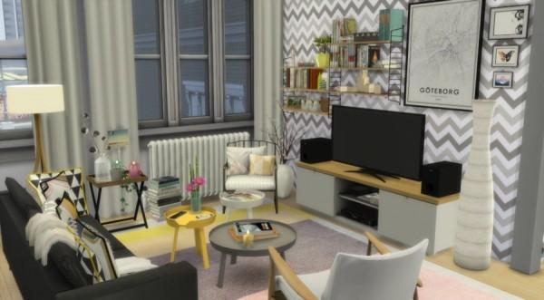 Sims Artists: Scandinavian apartment