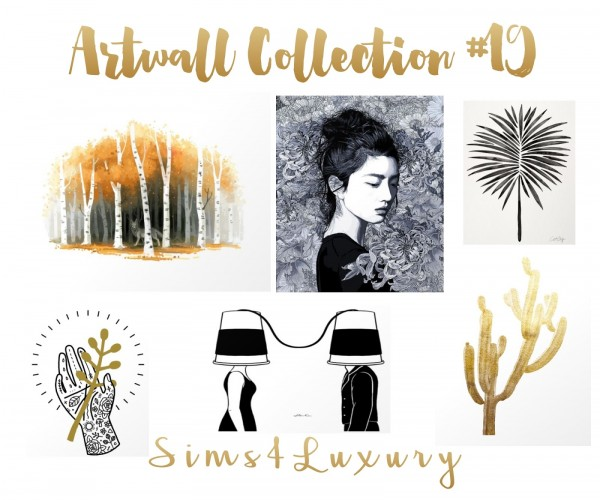 Sims4Luxury: Artwall collection 19