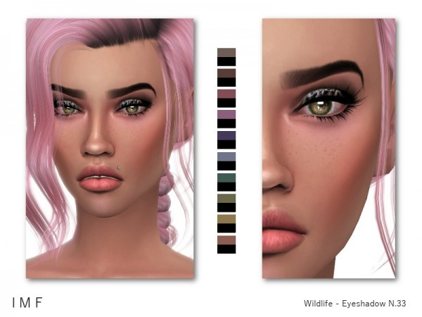 The Sims Resource: Wildlife Eyeshadow N.33 by IzzieMcFire