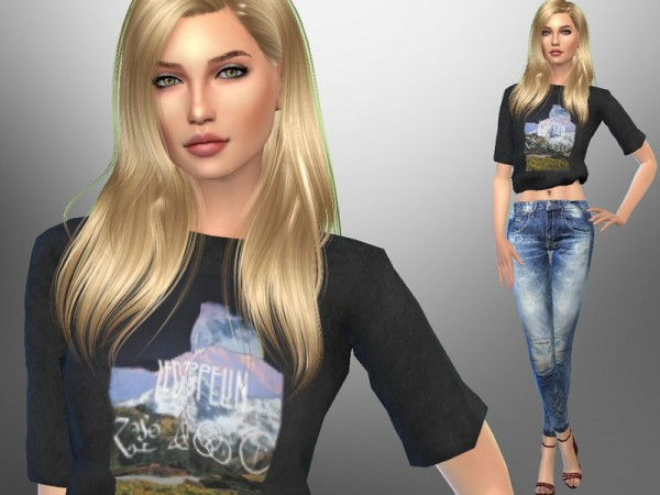 The Sims Resource: Emma Roberts by divaka45