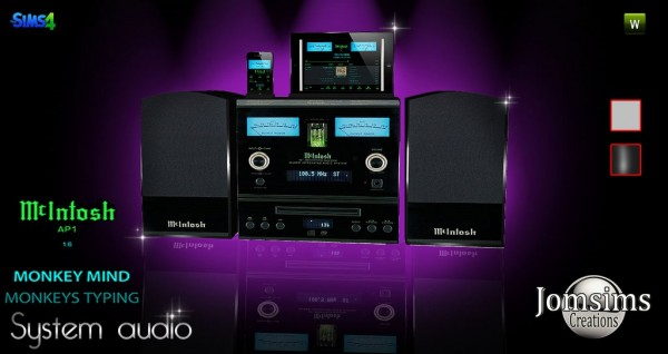 Jom Sims Creations: MC intoch system audio