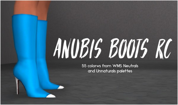 Simsworkshop: Anubis Boots recolor by Sympxls
