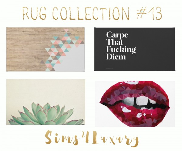 Sims4Luxury: Rug Collection 13