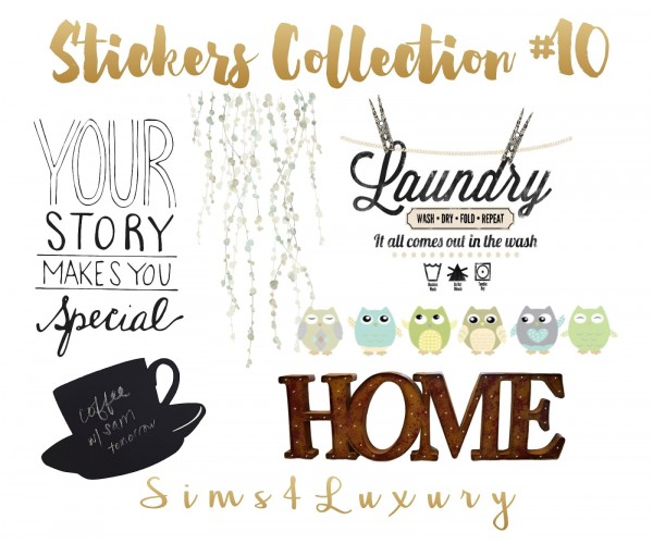 Sims4Luxury: Stickers Collection 10