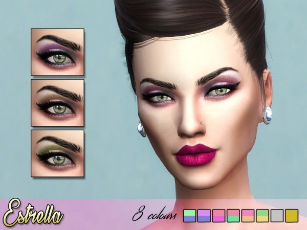 The Sims Resource: Estrella Eyeshadow by Kitty.Meow