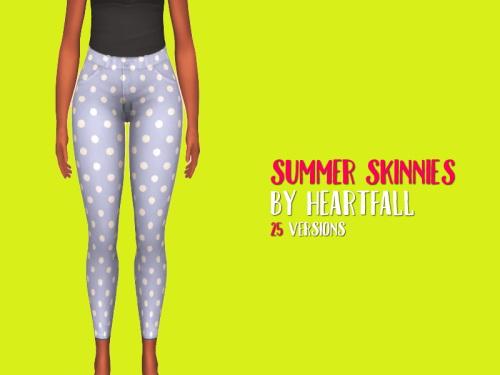 Simsworkshop: Summer Skinnies pants by heartfall