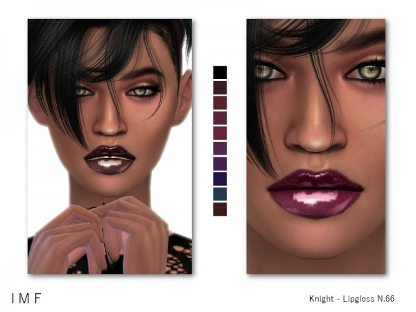 The Sims Resource: Knight Lipgloss N.66 by IzzieMcFire