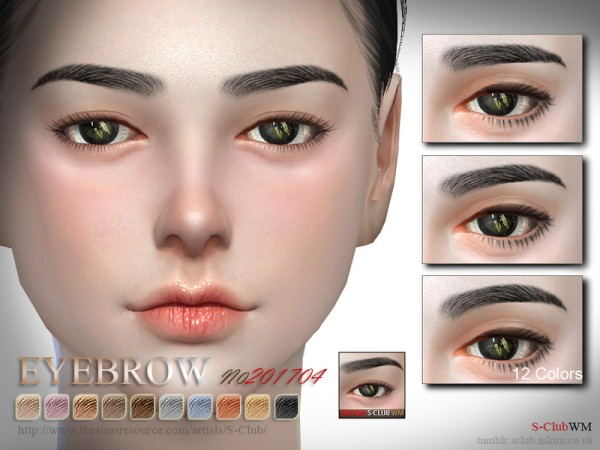 The Sims Resource: Eyebrows F 201704  by S Club