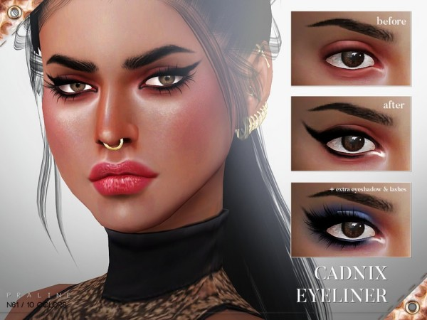 The Sims Resource: Cadnix Eyeliner N61 by Pralinesims
