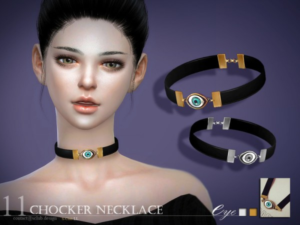 The Sims Resource: Chocker necklace N16 by S Club