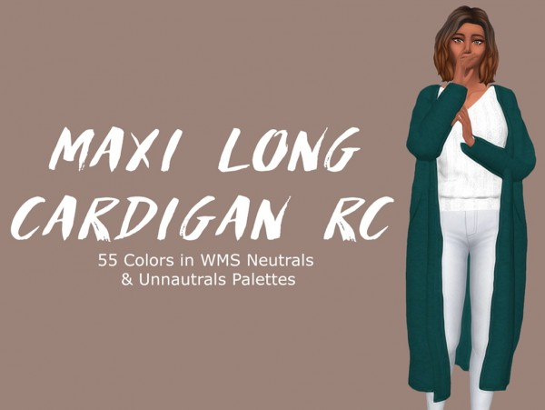 Simsworkshop: Maxi Long Cardigan by Sympxls