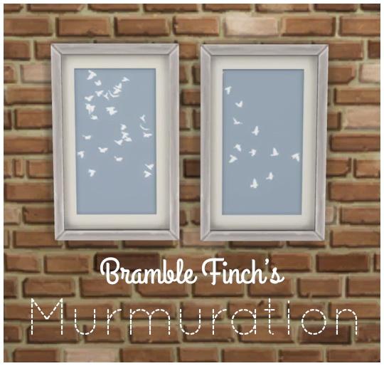 Simsworkshop: Murmuration walls by BrambleFinch