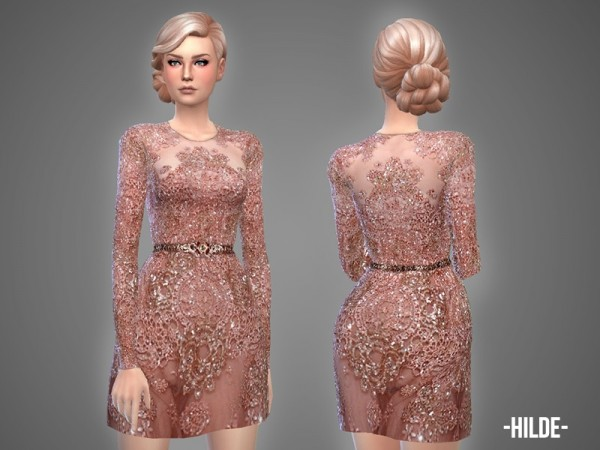 The Sims Resource: Hilde   dress by April