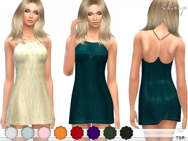 The Sims Resource: Y Back Dress by ekinege