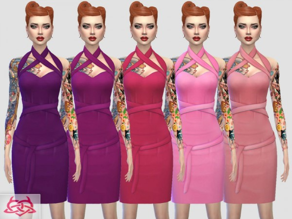 The Sims Resource: Mozzy dress recolor 1 by Colores Urbanos