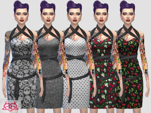 The Sims Resource: Mozzy dress recolor 2 by Colores Urbanos