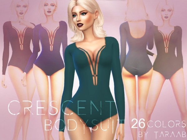The Sims Resource: Crescent Bodysuit by taraab