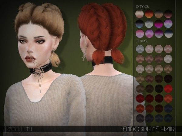 The Sims Resource: LeahLillith Endorphine Hair