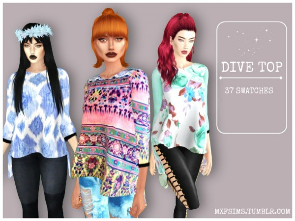 The Sims Resource: Dive Top by mxfsims