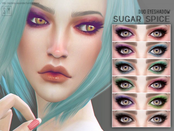 The Sims Resource: Sugar Spice   Duo Eyeshadow by Screaming Mustard