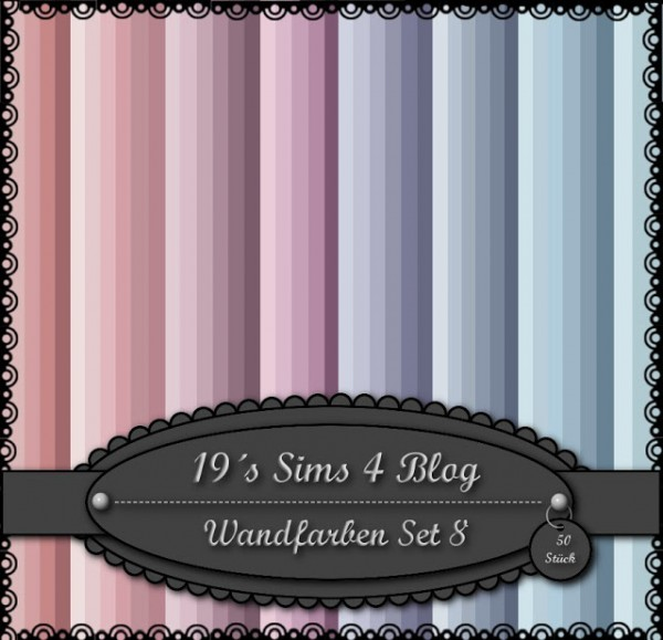 19 Sims 4 Blog Wall Paints Set 8 Sims 4 Downloads