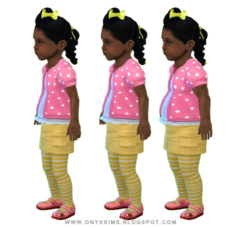 Onyx Sims: Puffy Sleeve Cardigan for Toddlers